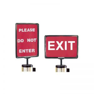 Retractable barrier A4 sign
