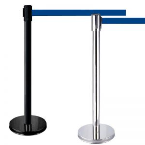 Retractable Barrier with Blue Tape