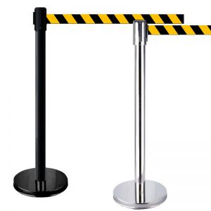 Belt barrier - Black and yellow tape